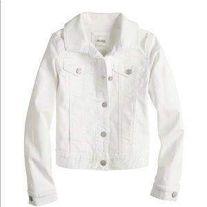 Girls White Denim Jacket by Mudd